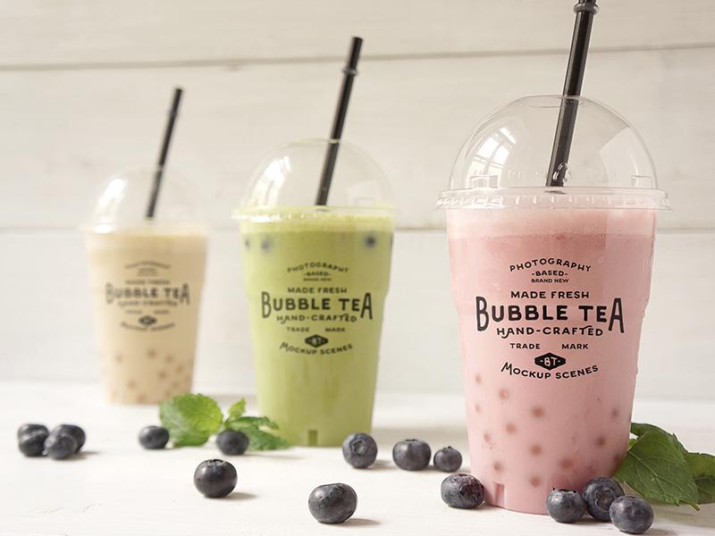 Bubble Tea Psd Mockups By Amris On Dribbble