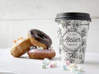 Coffee Doughnut PSD Mockup