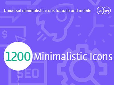 Universal Minimalistic icons