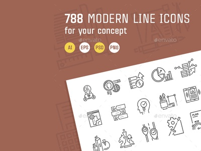 Modern Line Icons For Your Concept