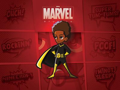 Turning my nephew into a superhero v2 affinity designer character design character vector illustration design