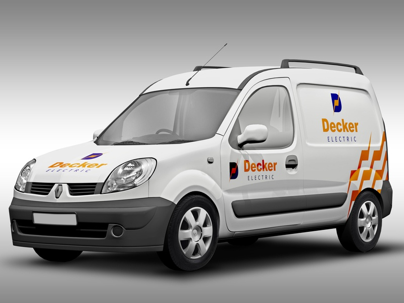 Decker Electric - Service Truck branding design