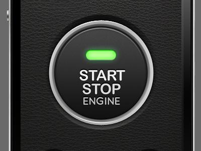 iPhone Car Starter Interface ui iphone car illustration
