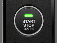 iPhone Car Starter Interface