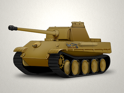 Panther tank tank illustration icon game