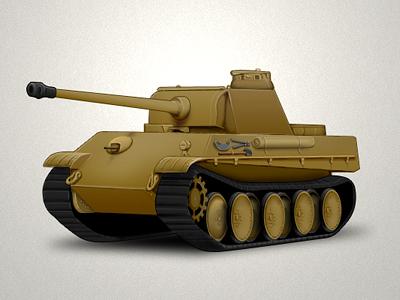 Panther tank tank illustration icon game