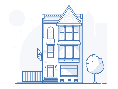Chicago Love flat building illustration house 2d