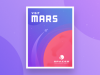 SPACED Mars Travel Poster typography spaced illustration poster