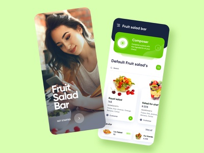Salad Bar App food app food salad bar salad app design app ui  ux uiux ux ui ui design design