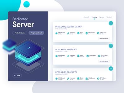 Dedicated Server Order ui design ui  ux design page design server hosting