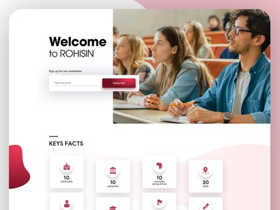 Home Page for university