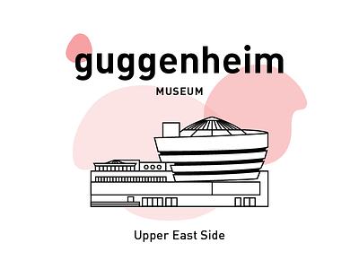 Guggenheim Museum. graphic design vector stripes museum illustration icon drawing design building architecture