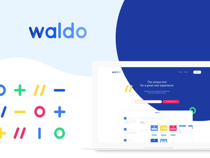 Waldo. user experience ux vector tool webdesign icon graphic design branding identity