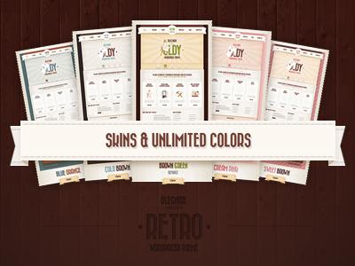 Retro Dribble retro vintage wordpress skins colors theme brown ribbon
