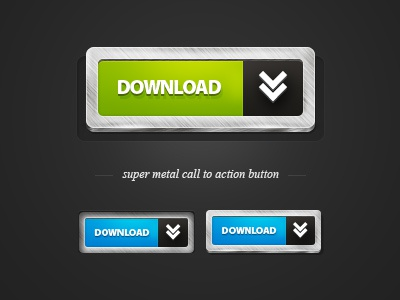 Metal Call to Action Button metal call to action button free
