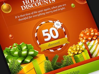 FeastMail 2 email christmas red gifts discount