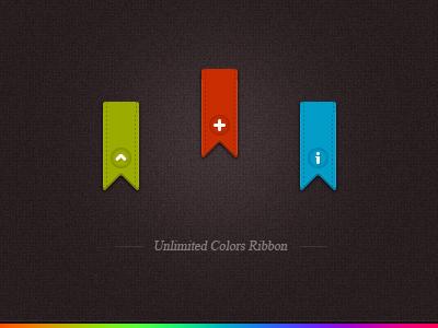 Any Color Vertical Ribbon free ribbon psd freebie download call to action free ribbon