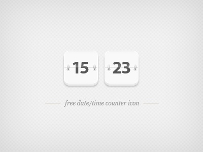 Free date time counter icon date time countdown counter calendar free freebie psd