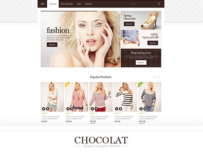 Chocolate - Flexible Magento Theme chocolat magento premuim theme apparel baby clothes cloud zoom color picker editable size fashion flexible food kids light modern unlimited colors