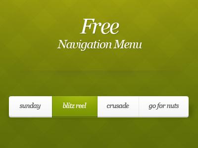Free Navigation Menu free menu button navigation clean psd
