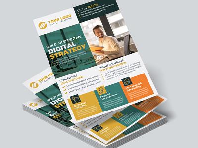 Corporate Business Flyer Design Template ui illustration vector template corporate flyer flyer photoshop design motion graphics animation logo branding graphic design