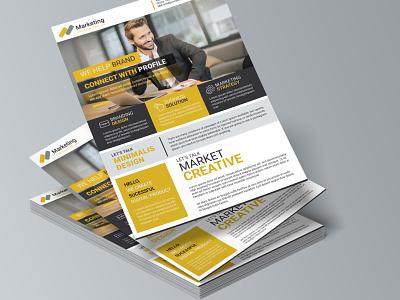 Creative Corporate Business Flyer poster animation motion graphics ui logo illustration vector template graphic design flyer design corporate flyer branding