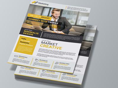 Creative Corporate Business Flyer Flyer leaflet agency illustration flyer logo motion graphics 3d animation ui vector template graphic design design corporate flyer branding