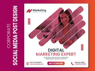 Corporate Social Media Post Design marketing digital creative agency brand post poster motion graphics 3d animation ui logo illustration vector template graphic design flyer design corporate flyer branding