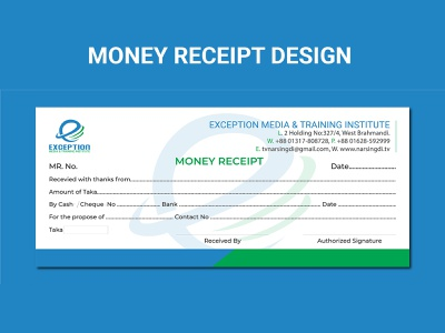 Money Receipt Design motion graphics 3d animation ui logo illustration vector template flyer design corporate flyer graphic design branding