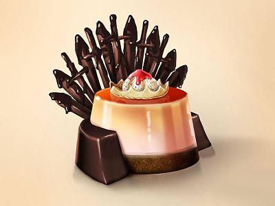 Flan of Thrones icecream gameofthrones got desstert flan