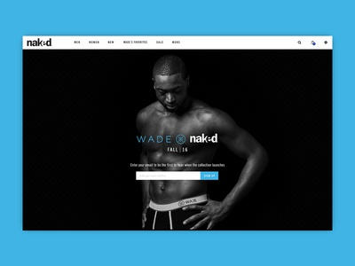 Dwyane Wade Landing Page email signup email capture landing page