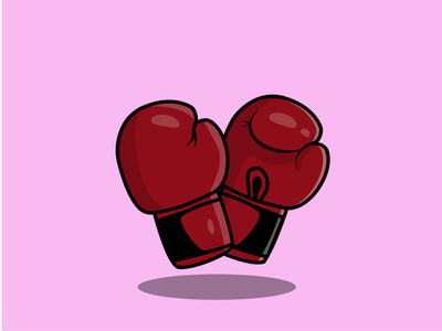 BOXING GLOVES icon vector illustrator design illustration
