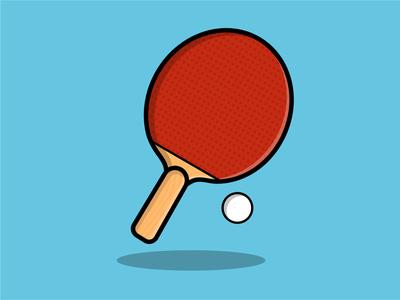 Pingpong logo vector illustrator design illustration