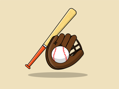 Baseball logo vector illustrator illustration design