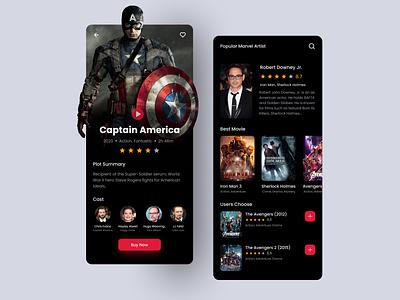 Movie Mobile Design android ios app trend marvel cinema movie app movies movie mobile ux mobile mobile design mobile app design mobile app mobile ui ux design ui design design ux ui