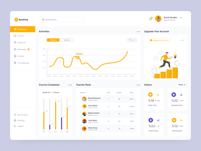 Course Dashboard Design dashboard ui dashboard dashboard design card web design web clean ux design ui design design ux ui