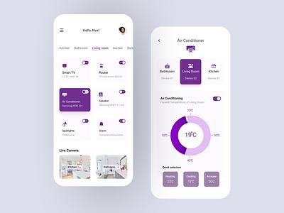 Smart Home App Design smart smart home smarthome android ios mobile app design mobile design mobile app mobile ui mobile application app design app ux design ui design design ux ui