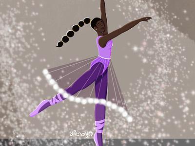 Prancing in Purple illustration