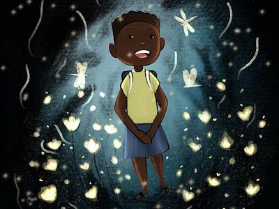 Firefly lights firefly children illustration