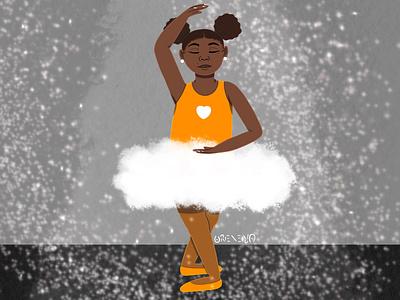 Ornate in Orange children illustration ballet dance
