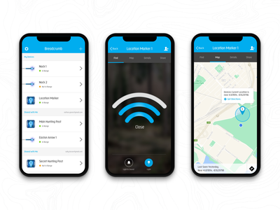 IoT Mobile App map location design mockups agency launchpad lab iot ui uxui ux mobile ui ios andriod mobile