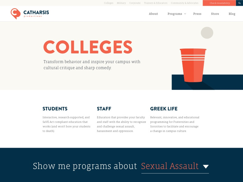 Catharsis Productions College Page by Monique Marchwiany