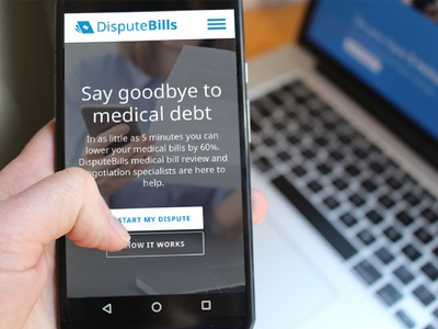 Dispute Bills Homepage Context Shot photo web app billing dispute bills health context shot mobile homepage launchpad lab