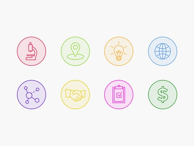 Health Research Icons line minimal research health icons branding launchpad lab