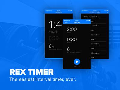 Rex Timer launchpadlab design timer ux ui mobile