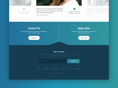 Footer Detail subscribe footer typography minimal gradient flat design launchpad lab