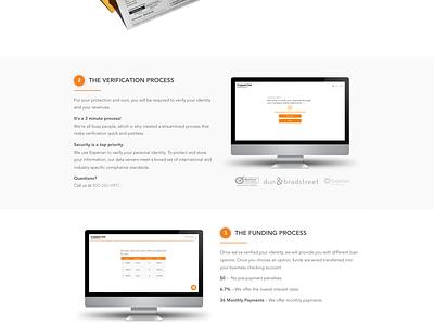 How It Works orange minimal web design marketing site how it works launchpad lab