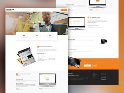 How It Works orange minimal web design marketing site how it works launchpad lab