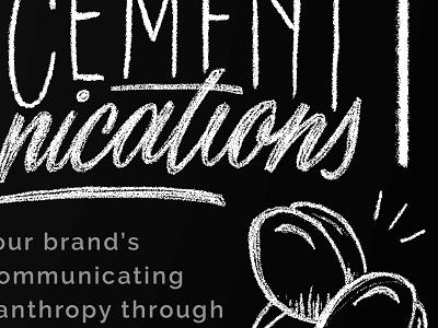 WIP Chalkboard Promo menu coffee chalktype business promo chalkboard chalk lettering type