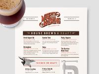 Mighty Brewing Draft List